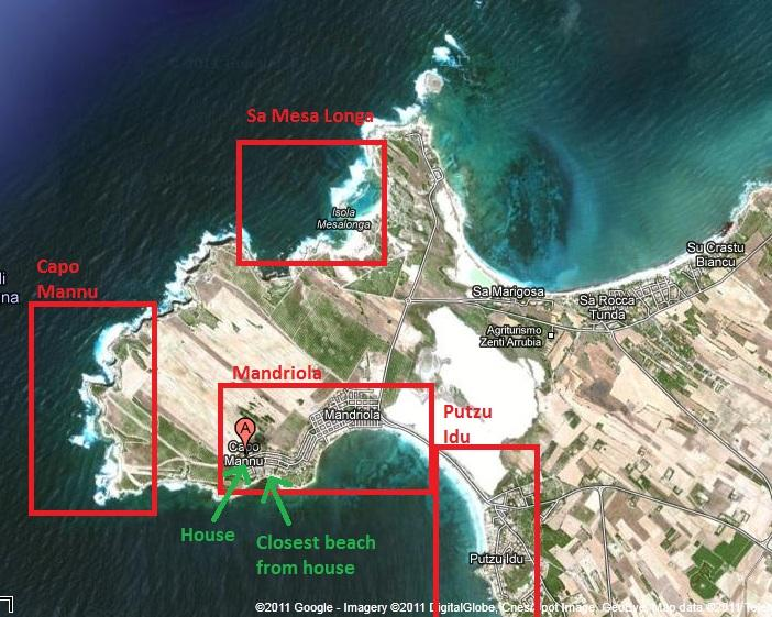 House location and beaches