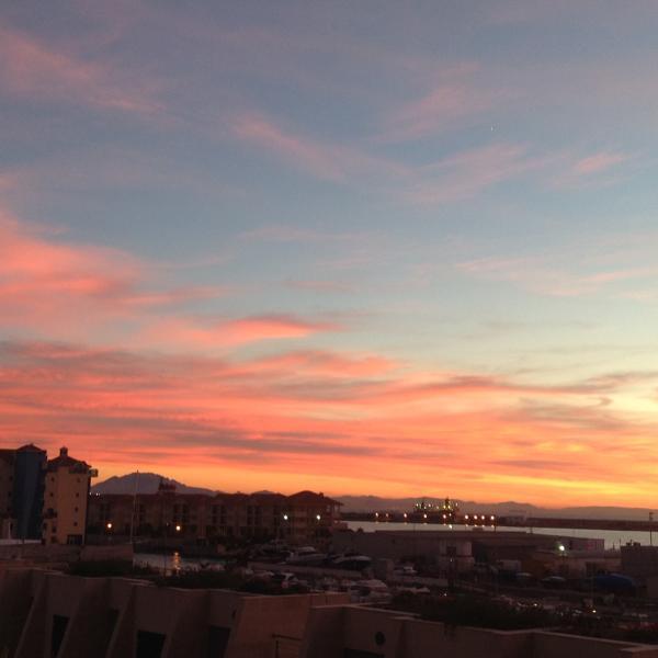 Un autre magnifique coucher de soleil sur l'Afrique