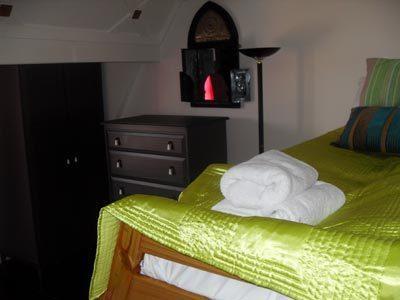 Top floor front bedroom sleeps 6 in two triple bunks