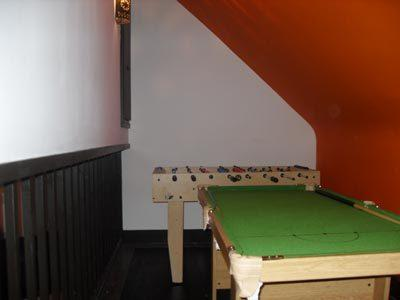 Table football and pool table available