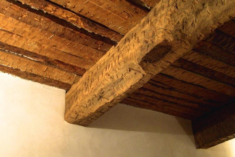Ceiling still has it's original 17th century timbers