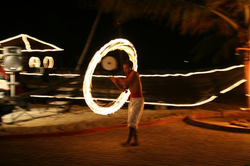 Fire Dancer on Varca Beach