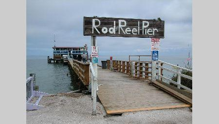 The famous Rod 'N Reel Pier!  Enjoy a meal and drink and watch the birds and sea life.