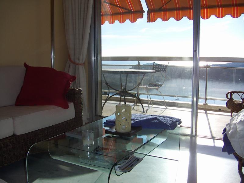 Living room with Cap Ferrat in Background