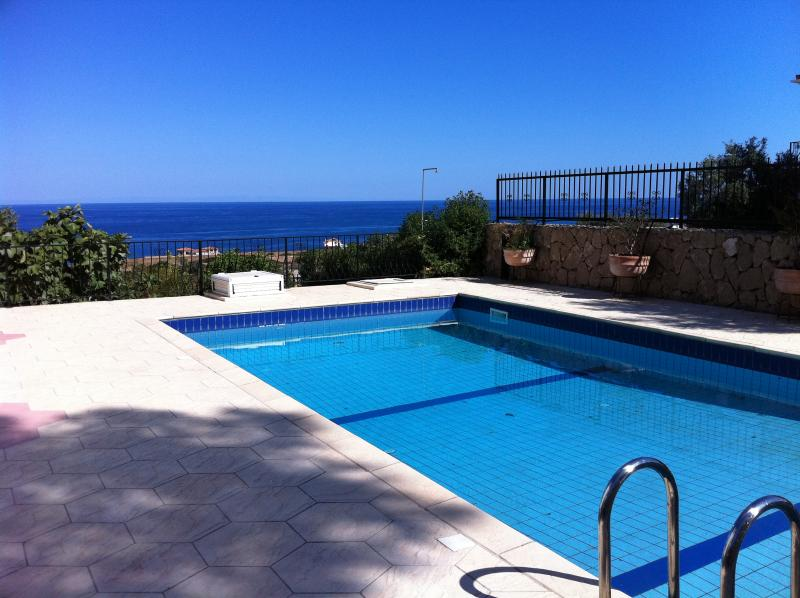 Villa pool overlooking the Mediterranean