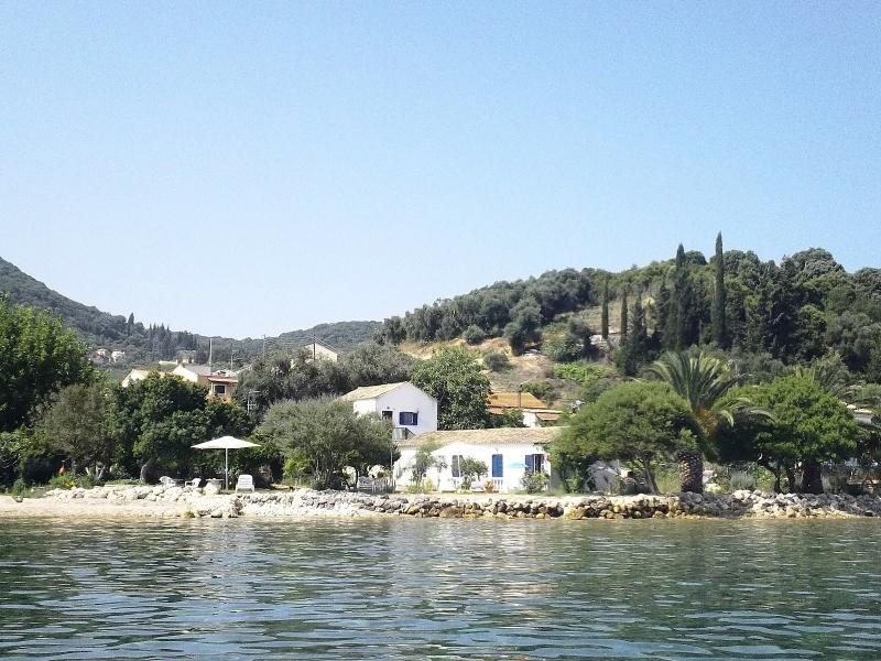 Thalassa Garden Corfu apartments & studios as seen from the sea