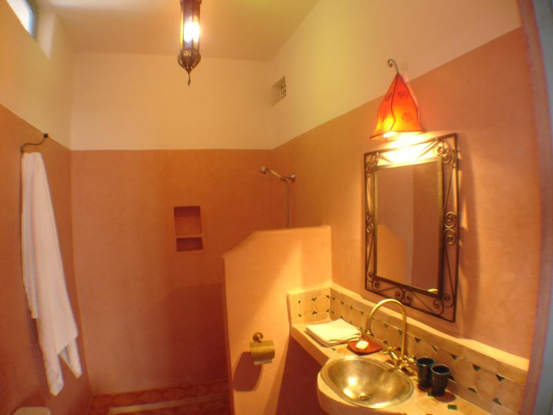 The bathroom - all the bathrooms are brightly lit and a combination of the modern and traditional