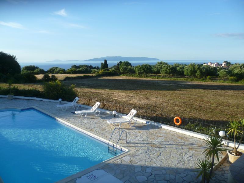 The view to Zakynthos
