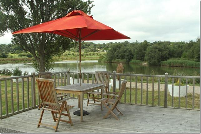 View towards lake from Kingoyo#66 (Chairs and table are provided but sometimes not the parasol)