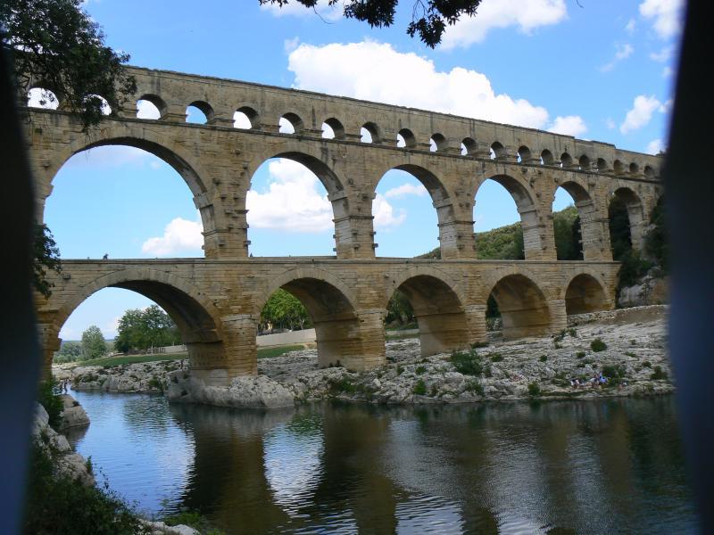 The stunning Pont du Gard - close by