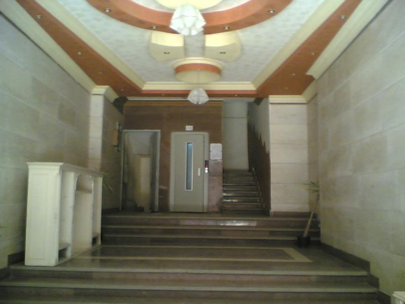 front entrance of building with lift servie.