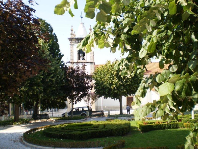 The park and church in Vila Nova de Poiares