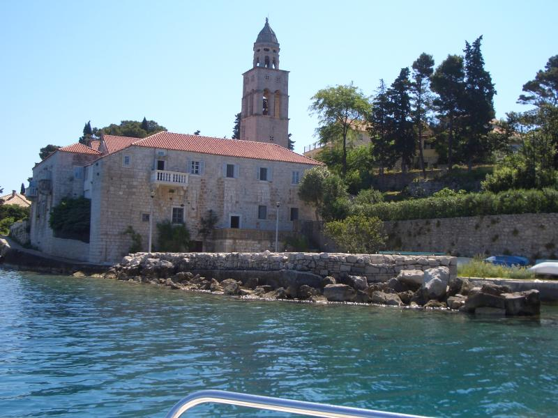 Our local church on walk to Korcula town
