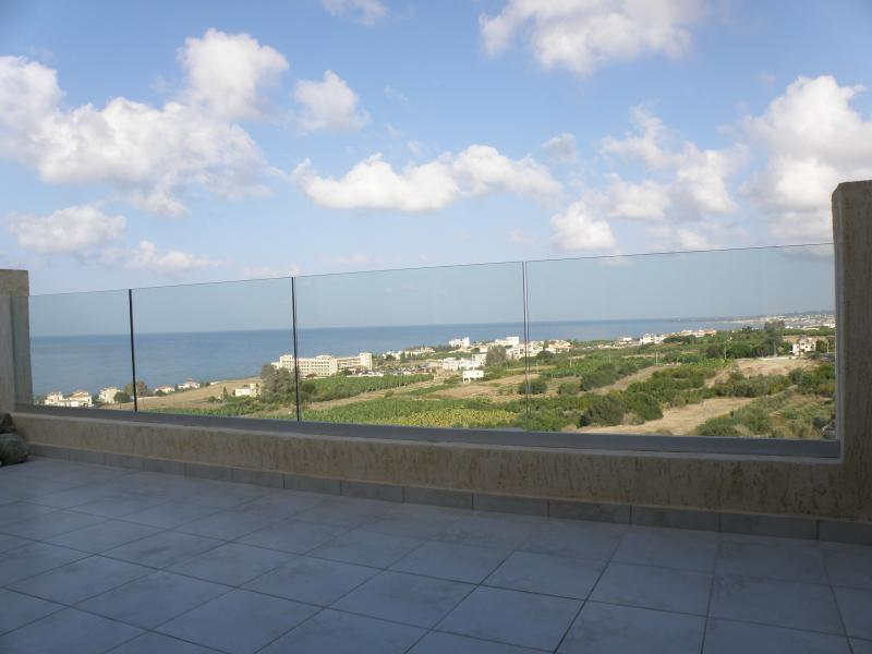 New glass balcony giving uninterrupted views of sea and coast line
