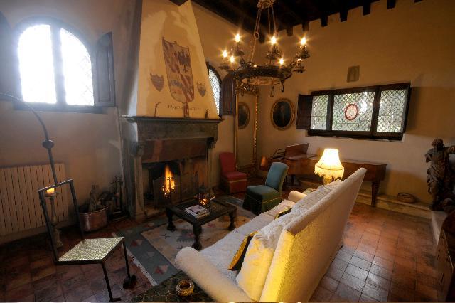 Reading livingroom in a cold season with fireplace! Sala lettura in una stagione fredda con camino!