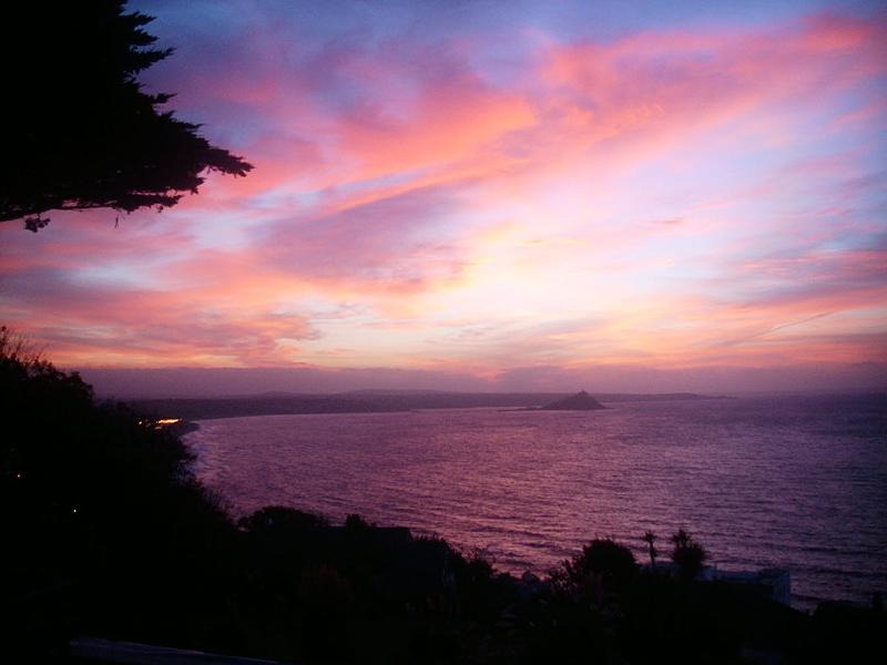 Sunrise view, taken from property