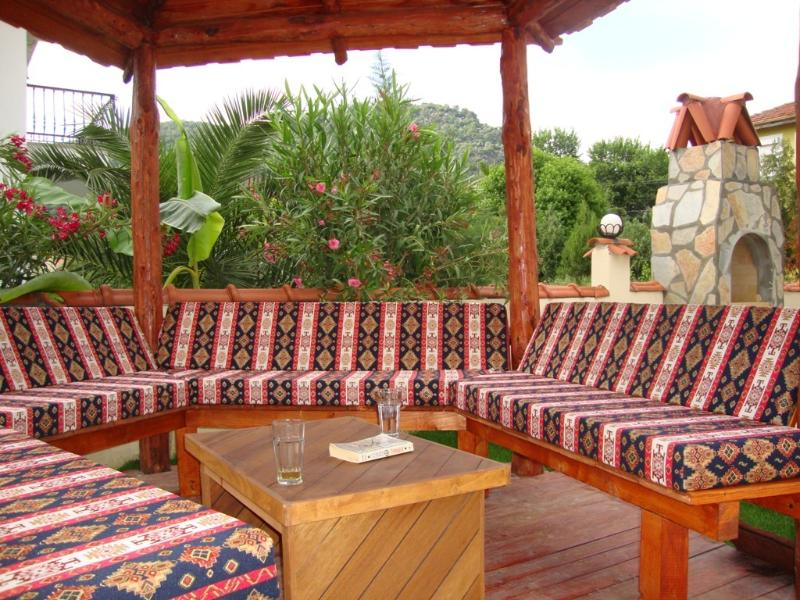 Turkish Pergola by the pool - perfect for drinks in the shade!