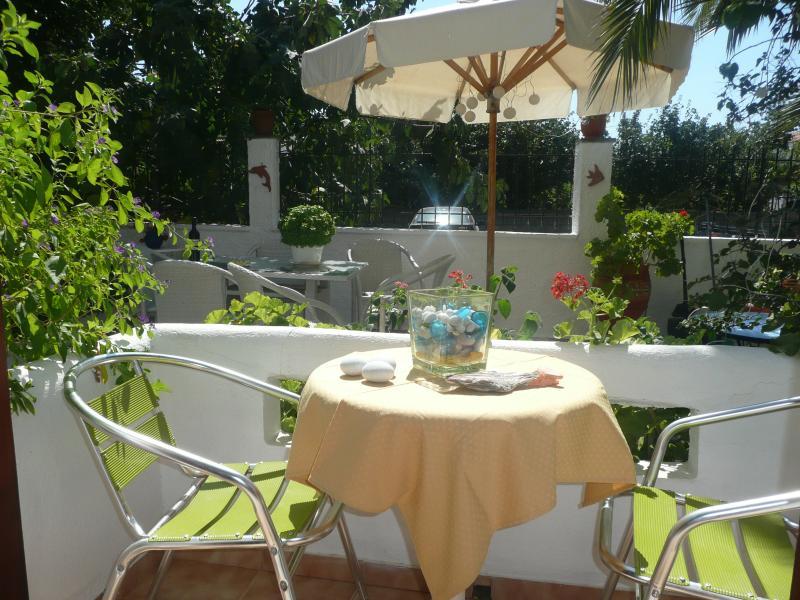 Veranda with dining set