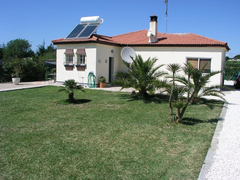 View of back garden and house