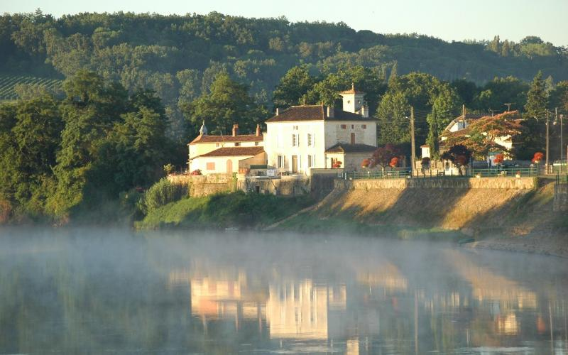 France House as seen from the River Dordogne.