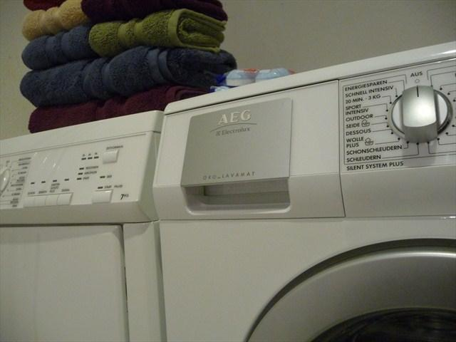 Full size clothes washer and dryer