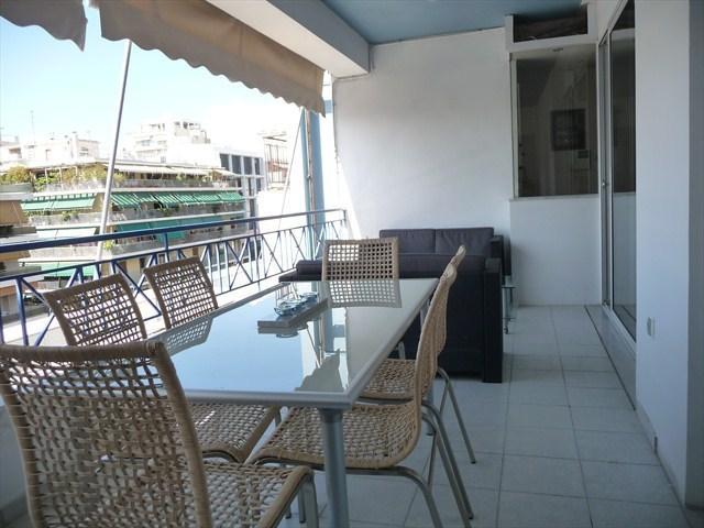 Spacious accessible veranda with Acropolis view