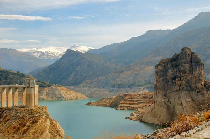 Canales reservoir just below the Village