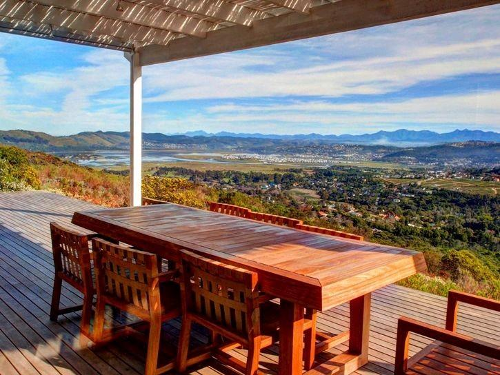 Enjoy the spectacular view from the deck