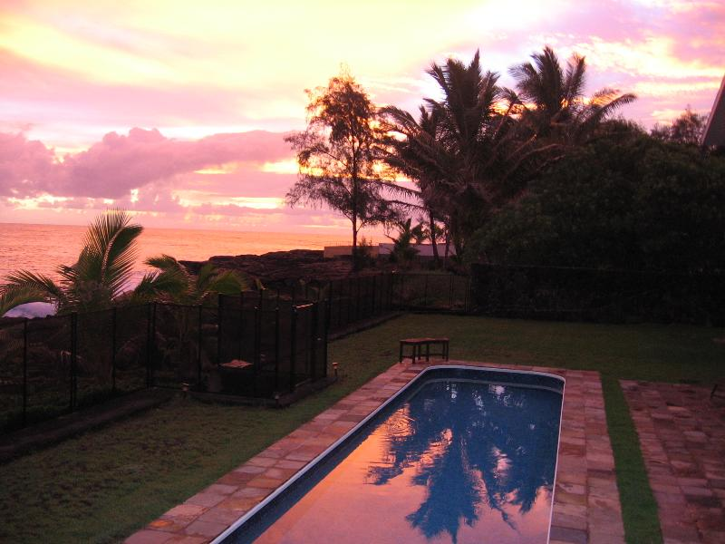 Gorgeous sunrises over the Pacific Ocean in Hale Mar's back yard