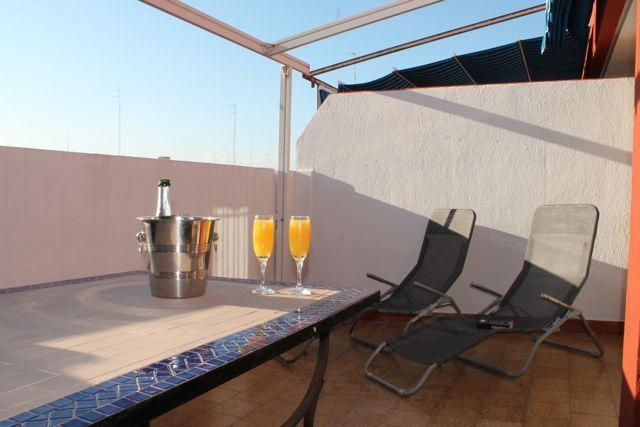 Enjoy the sunshine from our quiet terrace.