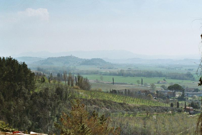 The view down the valley to Peccioli