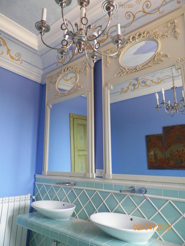 first floor bathroom with steam shower