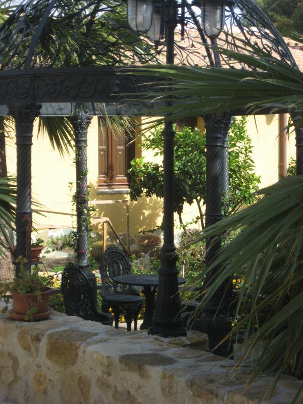 bistro seating in the garden