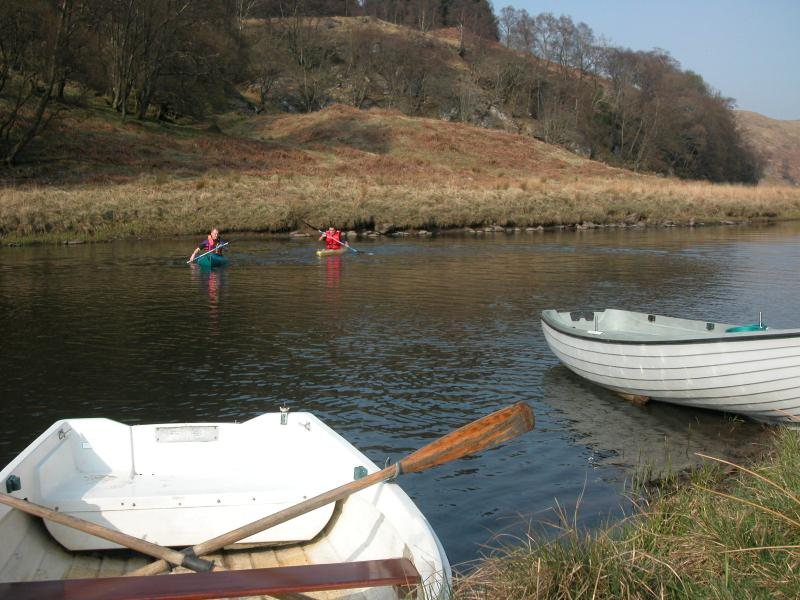 Boats, Canadian canoes and fishing on the estate lochs and river is available free of charge