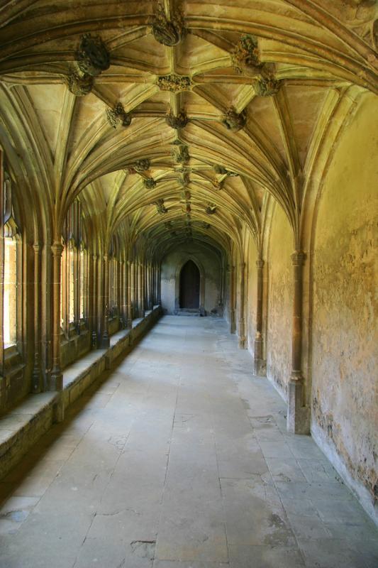 Cloître à Lacock Abbey