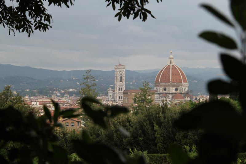 Florence cityscape from Piazza San Spirito