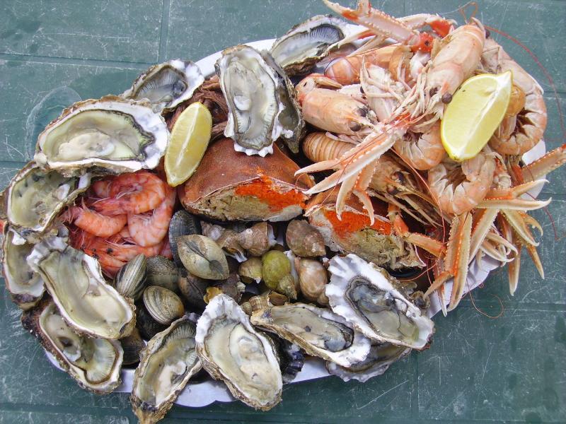 Breton Fruits de Mer, a beautiful platter of fresh Seafood
