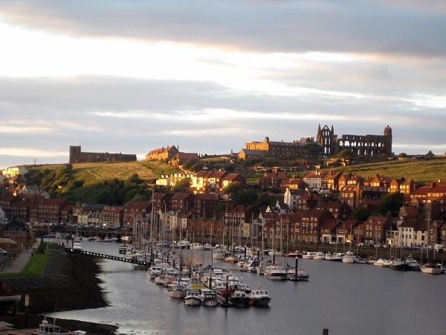 Whitby sunset - partial view from  lounge window