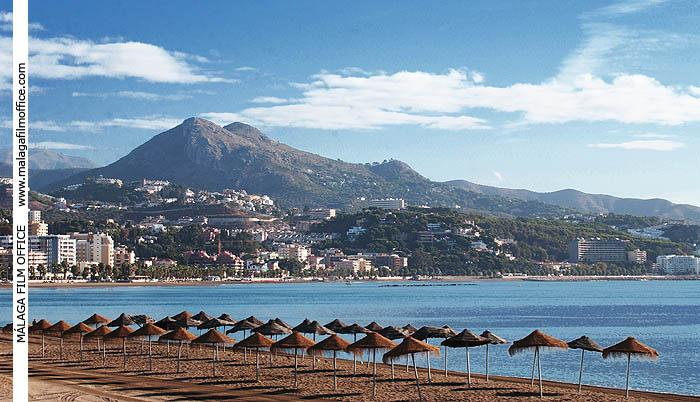 Beaches in the city of Malaga, close to Monte San Antón and the house