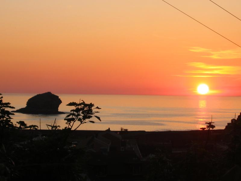 Sun set at Portreath from our deck, it dosent get better than this after a barbecue and a glass of