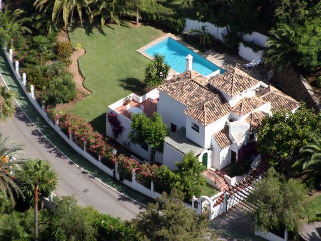 Aerial View showing villa and private gardens
