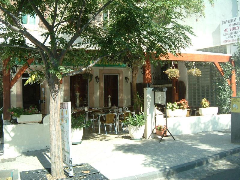 One of the village restaurants