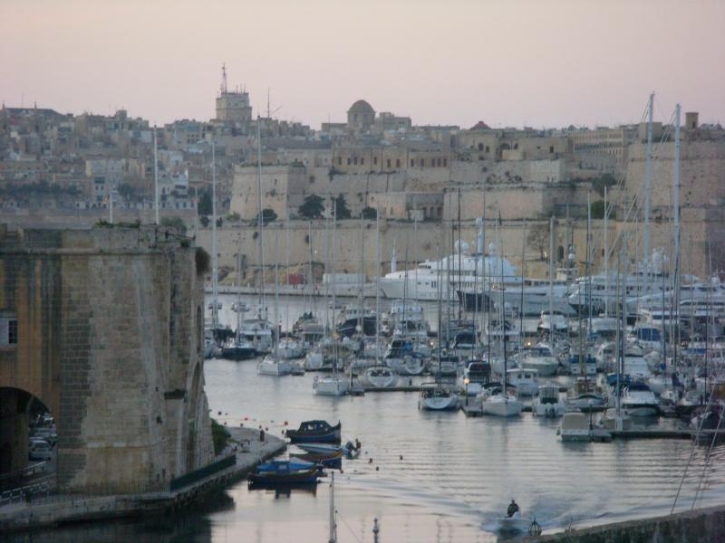 View of Vittoriosa from the roof terrace
