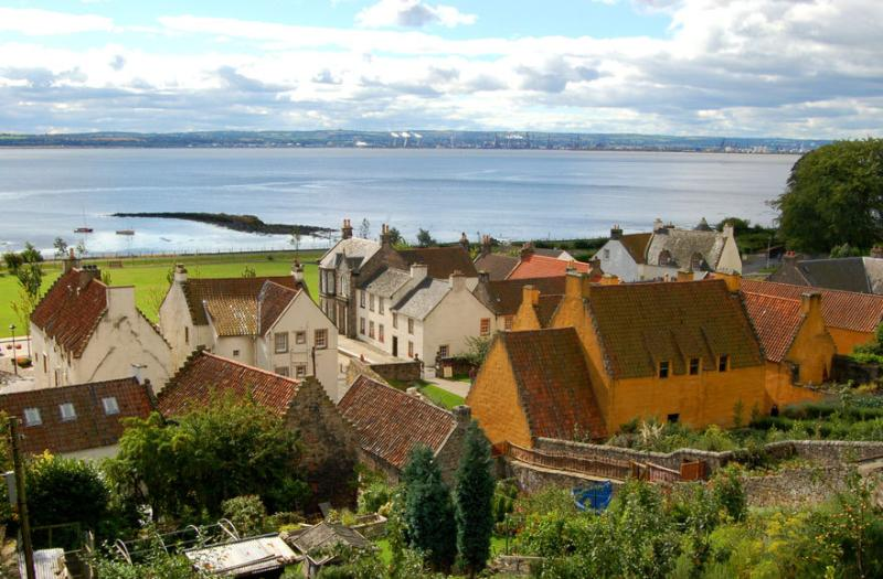 View Of Culross Palace, Gardens and the beautiful coastline