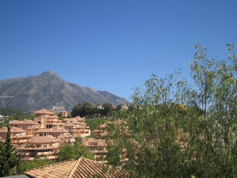 View from terrace facing towards mountain