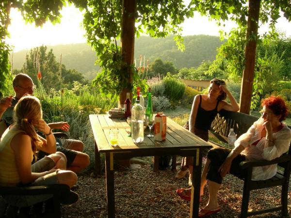 Have breakfast or dinner under the pergola and enjoy the views down the valley