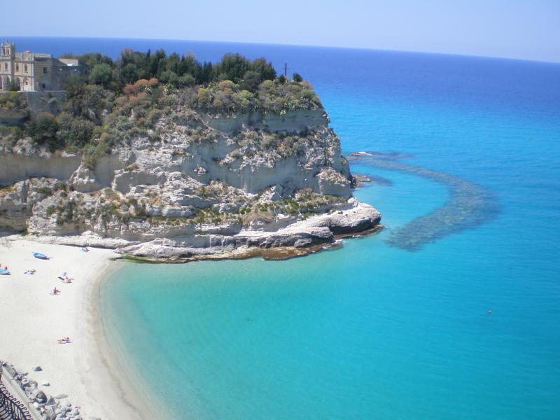 Uma das muitas praias Tropea