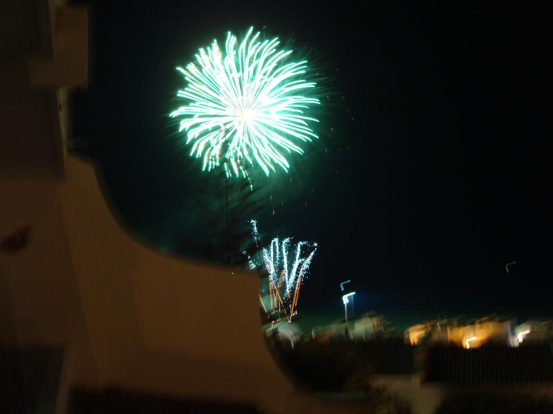 The firework display from our balcony