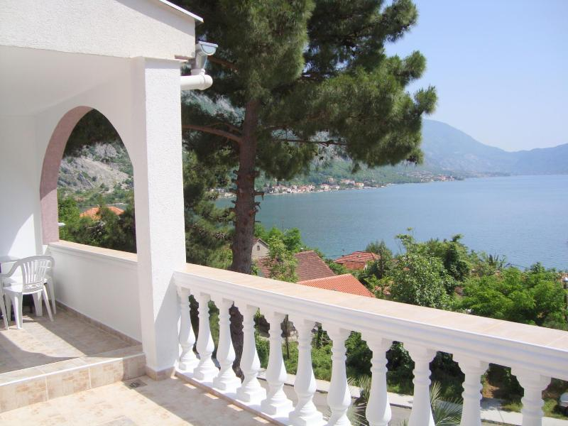 The apartment enjoys spectacular southerly views over Kotor Bay