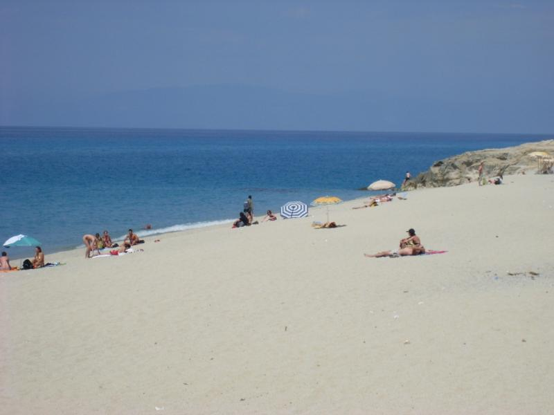 Uma das belas praias de Tropea